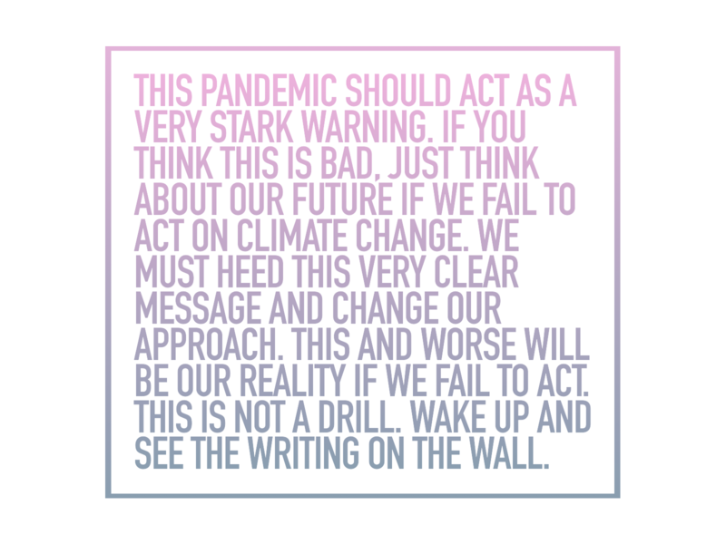 Pandemic Climate Action PSA climate action psa pandemic environment
