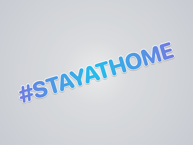#STAYATHOME sticker design pandemic psa stayathome stayhome