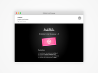 Dribbble Invite Giveaway x 2