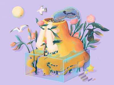 The girl empty web ui illustration