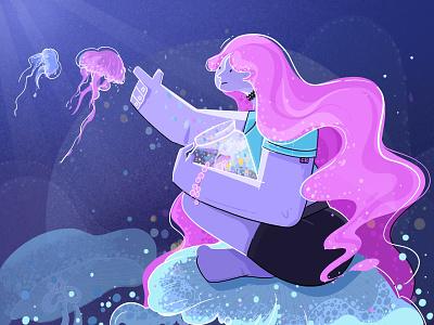 dream dreams girl artwork web wellness mirror illustrator design illustration