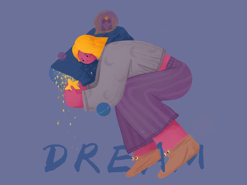 Dream people girl 插图 ui web design illustration