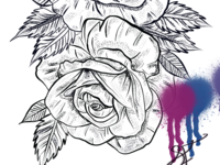 Roses and paint