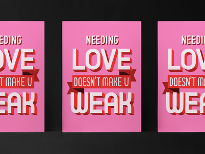 Notes from Therapy #4: Love Doesn't Make U Weak calligraphy type design typography hand letter lettering love mental health awareness mentalhealth illustration