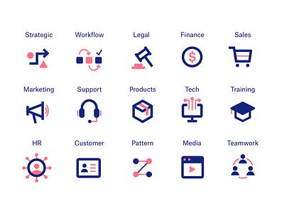 Corporate Icon Set vector illustrator marketing business corporate tech illustration design graphicdesign icon design iconography icon