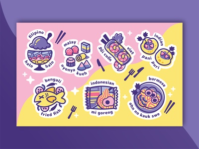 Food stickers for Asian Creative Network