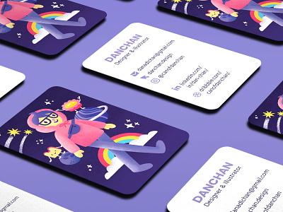 Business Card for Illustration & Design business card business card design design digital painting drawing illustration