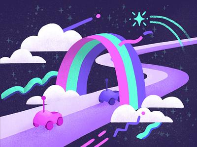 Casual Mario Kart Fanart videogame design landscape illustration landscape digital painting drawing illustration