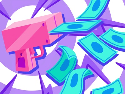 Illustration - Death by Capitalism color scheme color block pop art digital painting drawing illustration