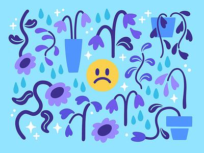 A Sad Pattern drawing digital painting design vector illustration pattern