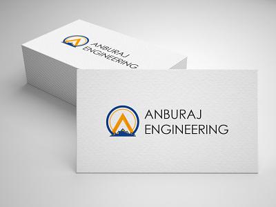 Anburaj- Branding. machine earth creative engineering design vector illustration logo branding