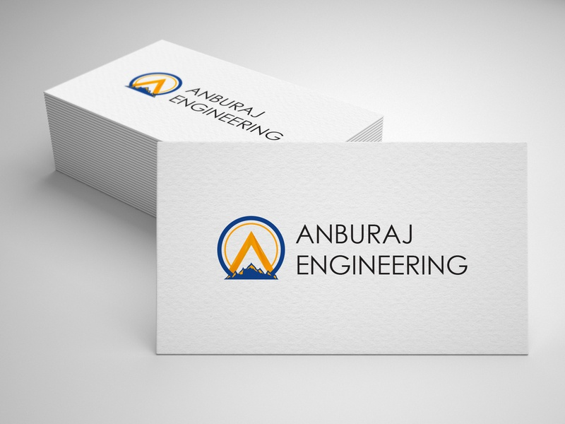 Anburaj- Branding. machine earth creative engineering design vector illustration logo branding