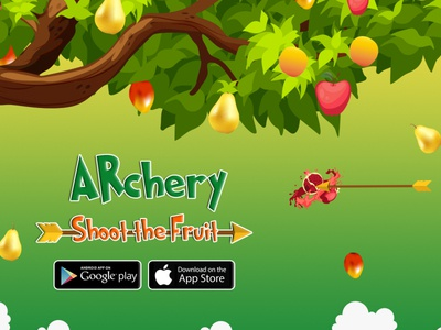 ARChery Game kids friendly ar augmented reality kids game kids creative app ux ui graphic unity 3d games unity 3d archery game