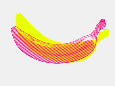 Banana  fruits fruit banana woodcut icon etching engraving food multiply graphics flat illustration