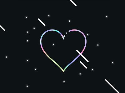 Tumblr Heart heart vector ui tumblr symbol stroke love illustration icons iconography icon glyph