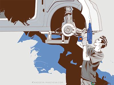 For Volkswagen Slovenia / Comics Set superhero marvel volkswagen illustraion icon hardware flat dc comics comic characterdesign character car