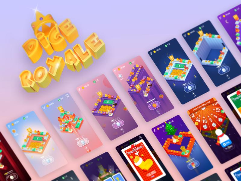 dice royale game illustration design ui