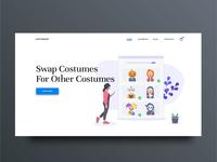 Costume Swap Landing Page