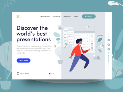 Presentr Landing Page