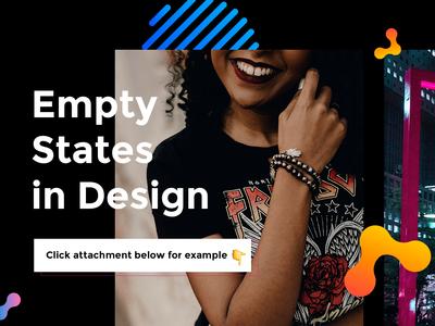 Empty states in design
