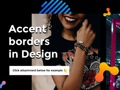 Accent borders in design