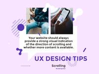 UX Design Tip #2