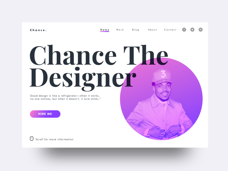 Chance The Designer adobe logo website tutorial photoshop type sketch web vector typography ux ui illustration design jam minimal illustrator design clean branding app