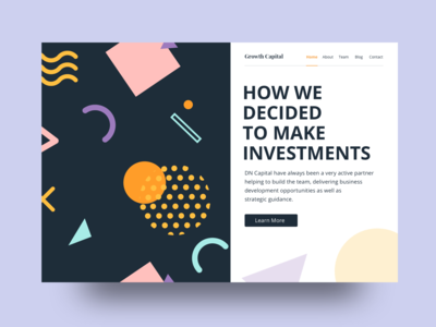 Growth Capital Landing Page (Free Sketch File Attached)