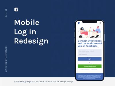 Facebook Mobile Log in Redesign.