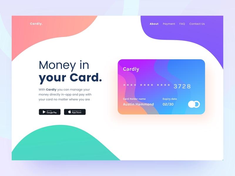 Cardly flat animation icon web vector typography ux ui illustration design jam minimal illustrator design clean logo branding app credit card bank app finance