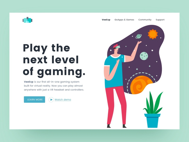 VR Landing Page by Design Masterclass on Dribbble