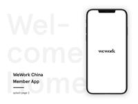WeWork China Member App splash page 2