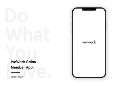 WeWork China Member App splash page 1