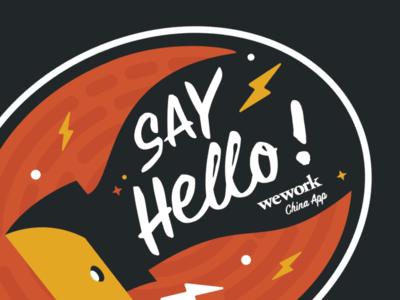 Sticker/ Say Hello