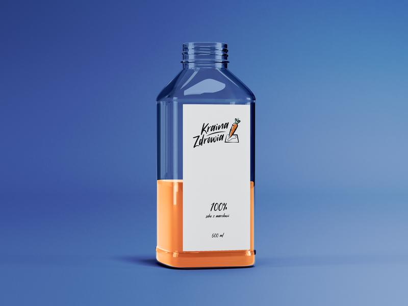 Health Land juice product typography vector illustration logo design icon logo branding