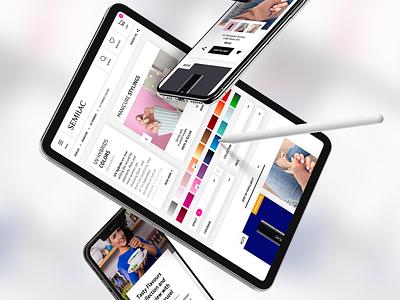 Semilac E-commerce Platform magento 2 nail art ux design ui design e-commerce design e-commerce shop e-comerce ux ui redesign design rwd website design