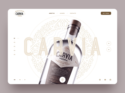 Carvia – Hero Block drinking artisanal craft alcohol spice bottle france russia handmade vodka caviar carvia