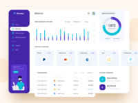 Airnow – Balance overview dashboard statistics affiliate transactions payment server expense income referral balance proxy