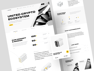 U-Miners – Landing page platform bitcoin datacenter mining blockchain ecosystem marketplace hosting crypto miners