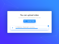 Video uploading widget
