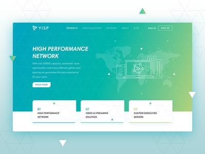 YISP Mainslide video dedicated corporate ux ui minimal network server gradient hosting clean