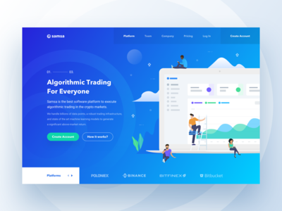 Samsa – Hero Block market blockchain fintech platform bitcoin btc ico crypto trading algorithmic