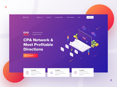 Drive – Hero Block advertisement slide landing product traffic click network cpa affiliate marketing affiliate