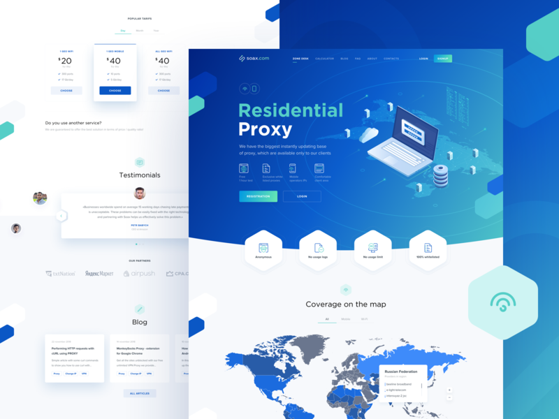 Soax - Landing Page by Anton Avilov for Anthony's Lab on Dribbble