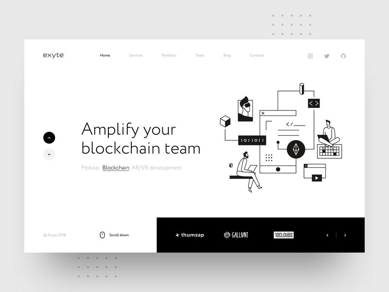 Exyte – Hero block