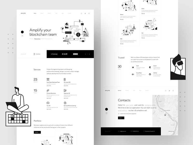 Exyte – Landing page