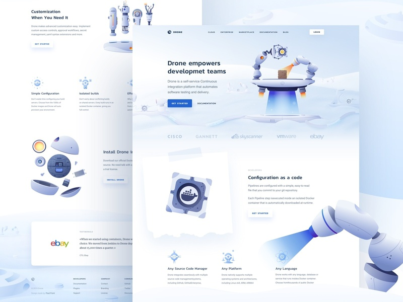 Drone – Behance case usage kubernetes gitlab plugin testing delivery market software platform integration github docker developer dev coding code