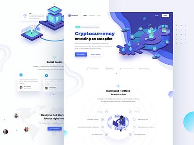 HodlBot – Landing page trading platform market investing investement ico eth cryptocurrency crypto coin btc blockchain bitcoin binance