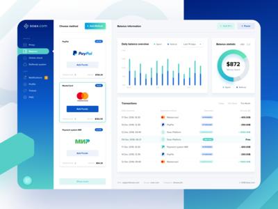 Soax - Balance page
