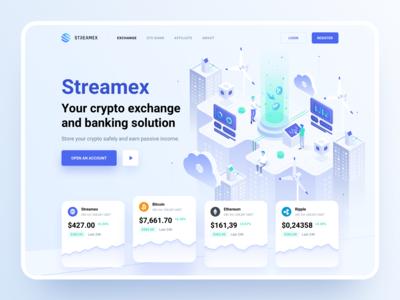 Streamex – Hero block